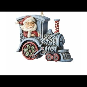 Jim Shore Santa in Train Engine Ornament